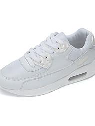 Черный Красный Белый Оливковый-Унисекс-Повседневный-Полиуретан-На плоской подошве-Удобная обувь-Кеды