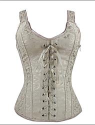 Corset Vêtement de nuit Femme Jacquard Coton Organique / Polyester / Spandex / Modal Beige Aux femmes