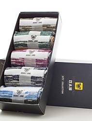 DOUBLE LIONS Men's Cotton Socks 5/box-MM0524