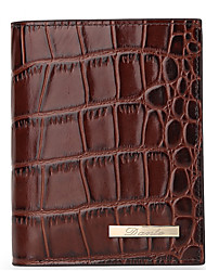 Men Cowhide Professioanl Use Shopping Wallet Brown