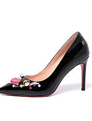 Mujer-Tacón Stiletto-Tacones / Puntiagudos-Tacones-Oficina y Trabajo / Vestido / Casual-Cuero-Negro / Amarillo / Blanco