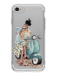 Для Кейс для iPhone 7 / Кейс для iPhone 7 Plus / Кейс для iPhone 6 С узором Кейс для Задняя крышка Кейс для Соблазнительная девушка Мягкий
