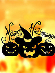 Happy Halloween Pumpkin Witch Wall Sticker Removable Decal Decor Window Room Decoration