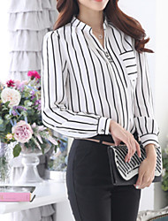Women's Casual Striped Long Sleeve Blouse