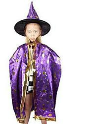 brujas manto de Halloween los niños muestran la ropa de color estrella de seis asistente capa capa aleatoria
