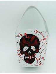 décorations Halloween accessoires sac de fruits de poche blanc crâne sac à main pâques prop 32 * 17 * 10