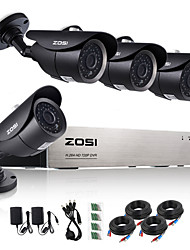 ZOSI®8CH 720P HDMI AHD CCTV DVR 4PCS 1.0 MP IR Outdoor Security Camera Surveillance System