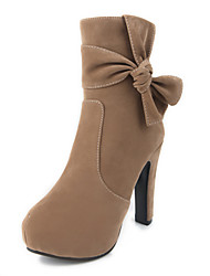 Boots Spring / Fall / Winter Platform / Fashion Boots Leatherette Party & Evening / Casual Chunky Heel Bowknot