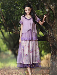 Our Story Women's Floral Purple SkirtsSophisticated Maxi