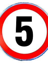 Limite de velocidade limite total de 5 velocidades reflexivas sinais reflexivos sinais de segurança da placa reflexiva