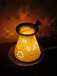1PC Ceramic  Hollow  Out  Craft  Plugged Into Electricity Essential Oils Fragrance Lamp