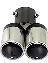 Automobile Tail Throat Double Tail Pipe Muffler Modified Exhaust Pipe Tail Throat