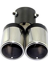 automobile queue de la gorge à double tuyau d'échappement tuyau d'échappement silencieux modifié la queue de la gorge
