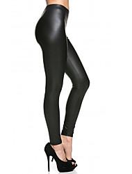 Damen Einfarbig Legging,Polyester