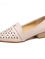 Women's Flats Summer Pointed Toe / Flats PU Casual Flat Heel Others Black / Pink / Beige Others