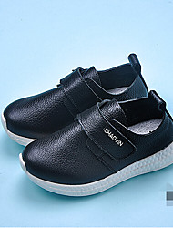 Unisex Sneakers Summer / Fall Flats Leather Athletic / Casual Flat Heel Others / Lace-up Black / White Sneaker