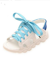 Girl's Sandals Spring / Summer / Fall Sandals PU Outdoor / Casual Flat Heel Bowknot White Walking