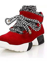 Women's Sneakers Fall / Winter Comfort Leatherette Outdoor / Athletic Wedge Heel Lace-up  / Fitness & Cross Training