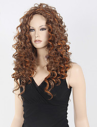 Top Quality Blonde Brown Curly Wig Middle Long Synthetic Wig Hot Low Price Sale.