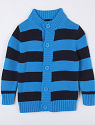 Casual/Daily Striped Sweater & Cardigan,Cotton Fall