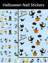 6pcs/lot  Halloween Nail Stickers Decal Art Tips AllHallow'sDay