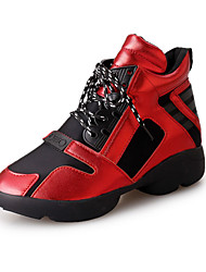 Women's Sneakers Fall / Winter Comfort PU / Tulle Athletic / Casual  Split Joint / Lace-up Black / Red / Gray Sneaker