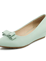 Women's Flats Spring / Summer / Fall Flats Leatherette Office & Career / Party & Evening / Dress /l BowknotBlue / Pink /