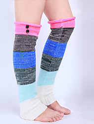Women's Winter Knitting Long Over The Knee Button Wool Leg Warmers