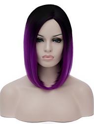 preto e roxo brilhante, estão gradiente harajuku parcial lolita lolita cospplay animação peruca.