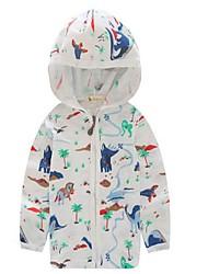 Casual/Dagelijks-Print-Katoen-Zomer-Boy's-Kostuum & Blazer-Wit