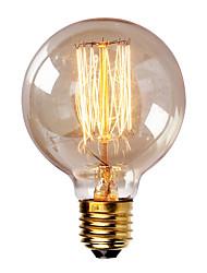 bombilla de luz incandescente 40w g80 vendimia e27 para la barra del hogar cafetería del hotel (220-240V)