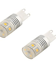 3 G9 Luces LED de Doble Pin T 11 SMD 2835 11 lm Blanco Fresco Decorativa AC 85-265 / AC 100-240 / AC 110-130 V 2 piezas