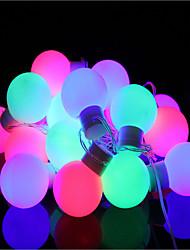 40 levou-plug impermeável ao ar livre do feriado do Natal luz decoração 5m levou luz da corda