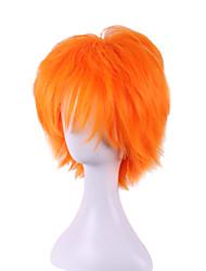jovem laranja vôlei cosplay contra o cabelo deformado se tornar