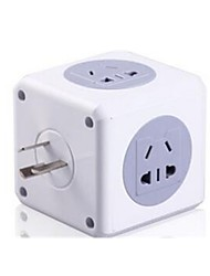 Smart With USB Charging Plug CUBE Socket Multi-Function