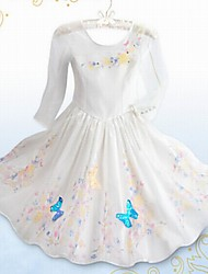 Girl's Casual/Daily Floral DressAcrylic All Seasons White