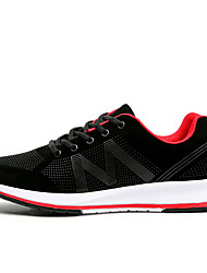 Men's Fashion Sneakers Comfort  Round Toe Tulle Athletic Casual Flat Heel  Blue / Gray / Black and Red