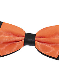 Men Adjustable Jacquard Double Layer Silk Bowtie Bow tie