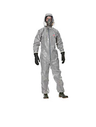 Dust Resist Liquid Chemical  Hooded Protective Coveralls  Size XL