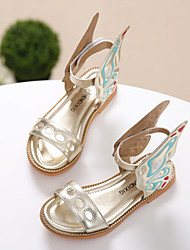 Girl's Sandals Summer Sandals / Open Toe Leather Casual Flat Heel Others Purple / Silver / Gold Others