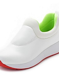 Women's Loafers & Slip-Ons Spring Closed Toe Leather Casual Flat Heel Others Black / Red / White Others