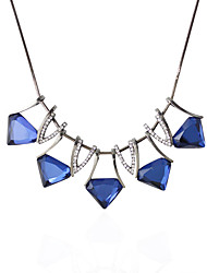 Necklace Choker Necklaces Jewelry Wedding / Party Fashionable / Personality Alloy / Rhinestone Dark Blue 1pc Gift