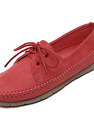 Women's Flats Spring / Summer / Fall Round Toe / Closed Toe / Flats  Casual Flat Heel Lace-up Walking