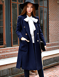 Women's Casual/Work / Party/Cocktail Vintage / Street chic / Sophisticated Coat