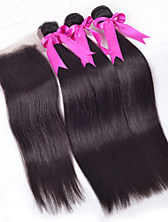 Malaysian Virgin Hair With Closure Malaysian Straight Lace Closure Bleach Knots With Hair Bundles