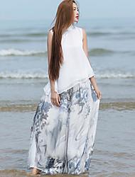 Femme Chinoiserie non élastique Pantalon,Ample Imprimé