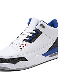 Men's Athletic Shoes Comfort Synthetic Athletic Flat Heel Lace-up Black / Blue / Black and White