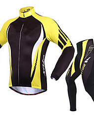Sports Cycling Jacket with Pants Men's Long Sleeve Bike Breathable / Thermal / Warm / Comfortable / Sunscreen Clothing Sets/SuitsTerylene