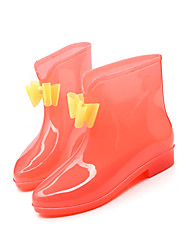 Girl's Boots Fall Winter Rain Boots PVC Outdoor Flat Heel Others Green Purple Red Others