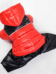 Katzen / Hunde Mäntel / Kapuzenshirts / Pullover Rot / Grün / Blau / Rosa Hundekleidung Winter Sport warm halten
